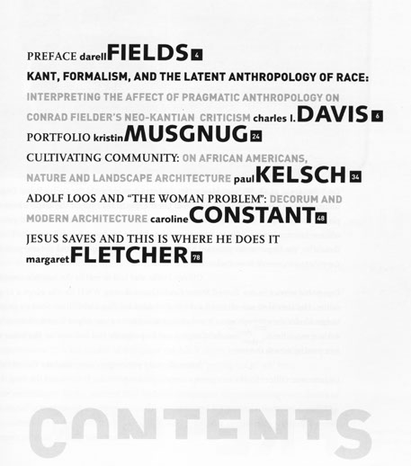 Appendx Special Issue Contents